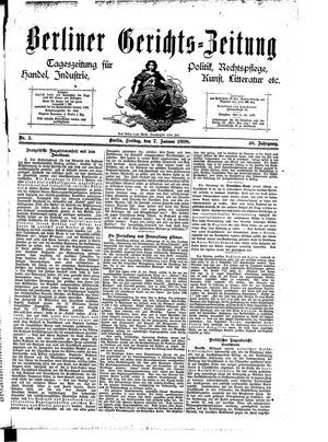 Berliner Gerichts-Zeitung vom 07.01.1898