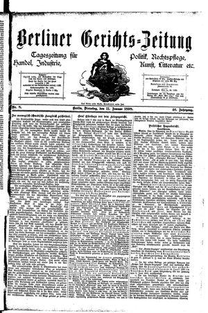 Berliner Gerichts-Zeitung vom 11.01.1898