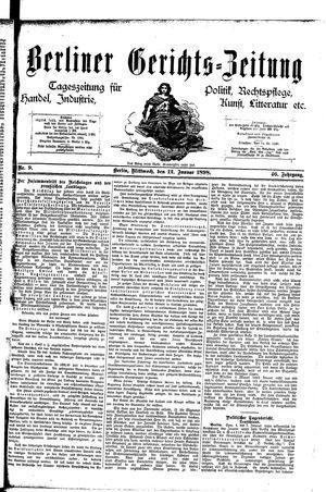 Berliner Gerichts-Zeitung vom 12.01.1898