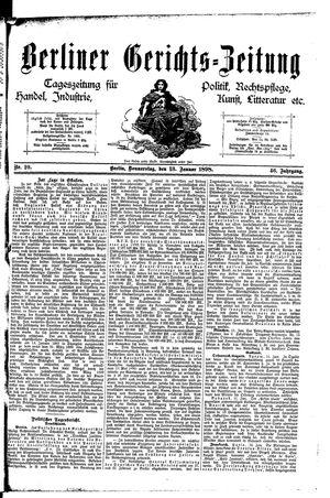 Berliner Gerichts-Zeitung vom 13.01.1898