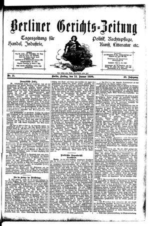 Berliner Gerichts-Zeitung vom 14.01.1898