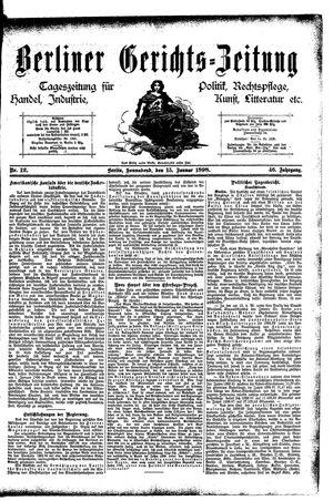 Berliner Gerichts-Zeitung vom 15.01.1898