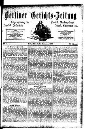 Berliner Gerichts-Zeitung vom 19.01.1898