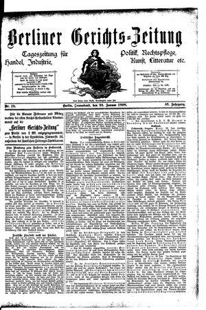 Berliner Gerichts-Zeitung vom 22.01.1898