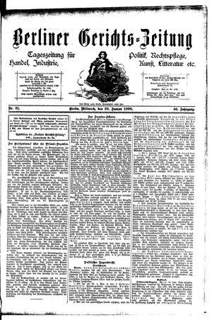 Berliner Gerichts-Zeitung vom 26.01.1898