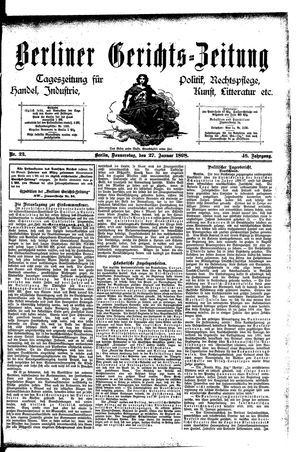 Berliner Gerichts-Zeitung vom 27.01.1898