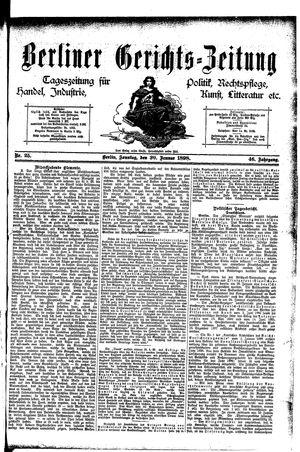 Berliner Gerichts-Zeitung vom 30.01.1898