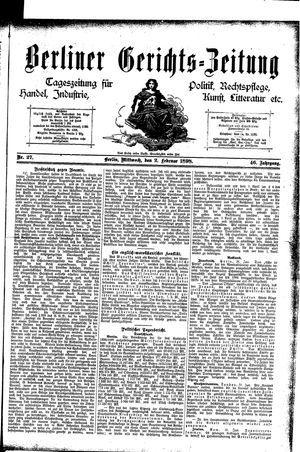Berliner Gerichts-Zeitung vom 02.02.1898