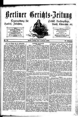 Berliner Gerichts-Zeitung vom 04.02.1898