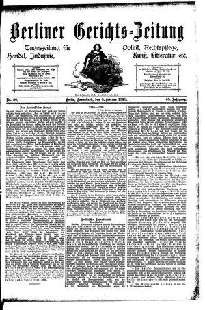 Berliner Gerichts-Zeitung vom 05.02.1898