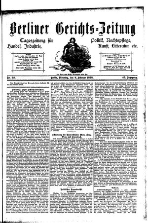 Berliner Gerichts-Zeitung vom 08.02.1898