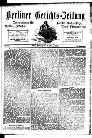 Berliner Gerichts-Zeitung vom 09.02.1898