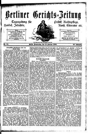 Berliner Gerichts-Zeitung vom 10.02.1898