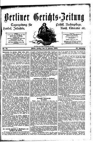 Berliner Gerichts-Zeitung on Feb 11, 1898