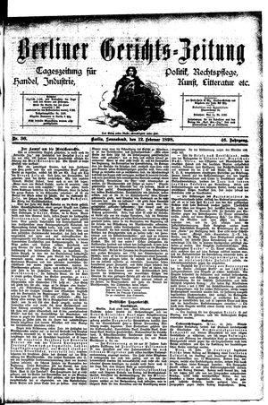 Berliner Gerichts-Zeitung vom 12.02.1898