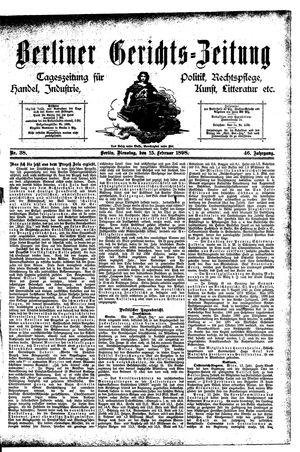 Berliner Gerichts-Zeitung vom 15.02.1898