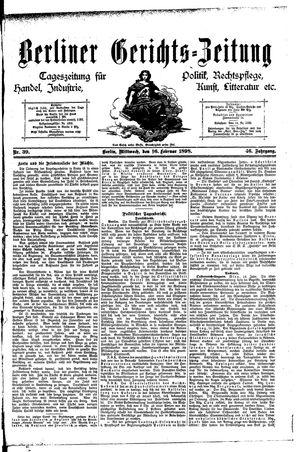 Berliner Gerichts-Zeitung vom 16.02.1898