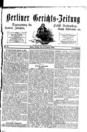 Berliner Gerichts-Zeitung vom 18.02.1898
