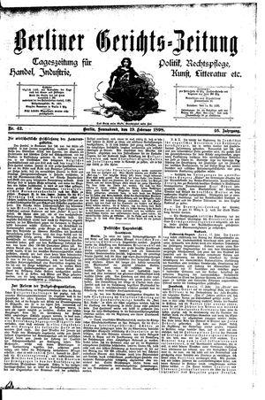 Berliner Gerichts-Zeitung vom 19.02.1898