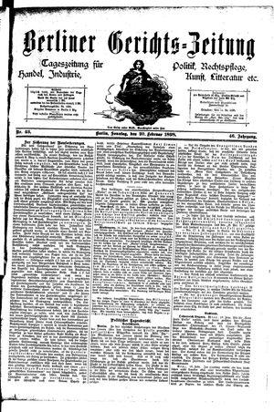 Berliner Gerichts-Zeitung vom 20.02.1898