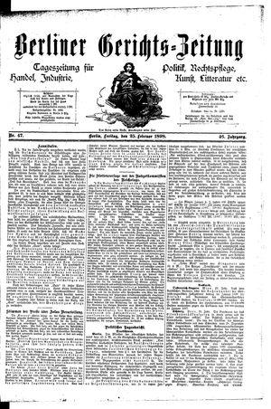 Berliner Gerichts-Zeitung vom 25.02.1898
