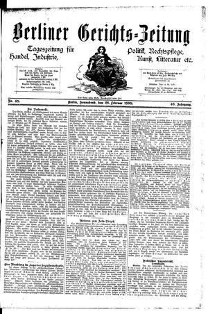 Berliner Gerichts-Zeitung vom 26.02.1898