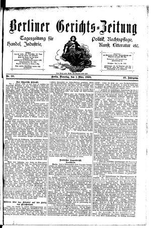Berliner Gerichts-Zeitung vom 01.03.1898