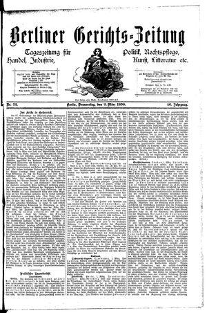 Berliner Gerichts-Zeitung vom 03.03.1898