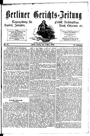 Berliner Gerichts-Zeitung vom 04.03.1898
