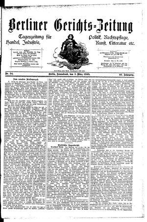 Berliner Gerichts-Zeitung vom 05.03.1898