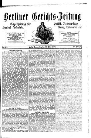 Berliner Gerichts-Zeitung vom 10.03.1898