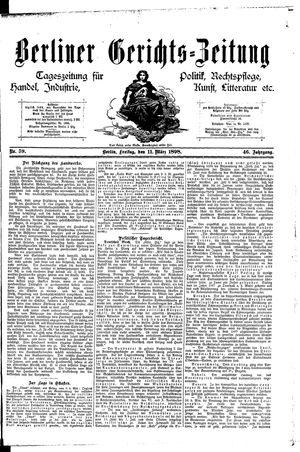 Berliner Gerichts-Zeitung vom 11.03.1898
