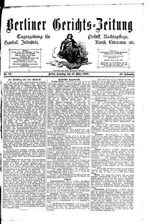 Berliner Gerichts-Zeitung vom 13.03.1898