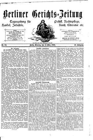 Berliner Gerichts-Zeitung vom 15.03.1898