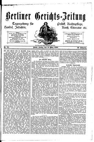 Berliner Gerichts-Zeitung vom 18.03.1898