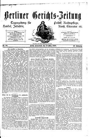 Berliner Gerichts-Zeitung on Mar 19, 1898