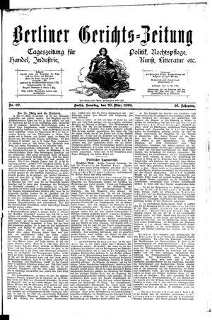 Berliner Gerichts-Zeitung vom 20.03.1898