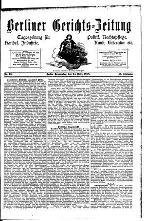 Berliner Gerichts-Zeitung vom 24.03.1898