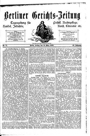 Berliner Gerichts-Zeitung vom 25.03.1898