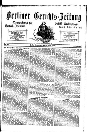 Berliner Gerichts-Zeitung vom 26.03.1898