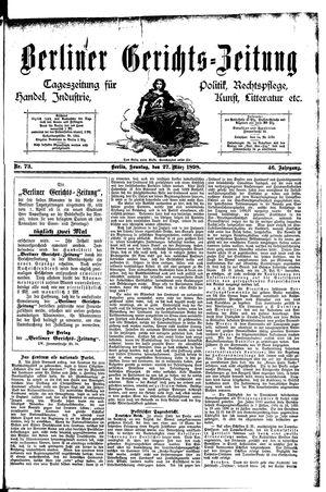 Berliner Gerichts-Zeitung vom 27.03.1898