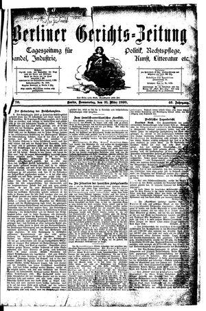 Berliner Gerichts-Zeitung vom 31.03.1898