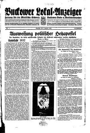 Buckower Lokal-Anzeiger vom 01.01.1933