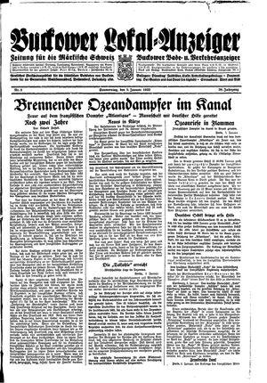 Buckower Lokal-Anzeiger vom 05.01.1933
