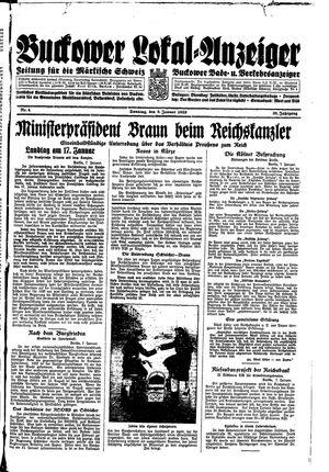 Buckower Lokal-Anzeiger vom 08.01.1933