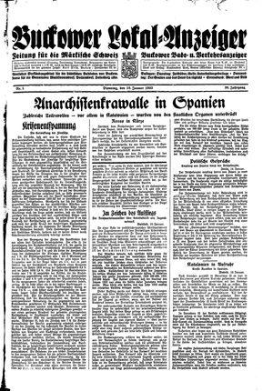 Buckower Lokal-Anzeiger vom 10.01.1933