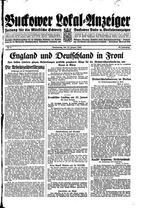 Buckower Lokal-Anzeiger vom 12.01.1933
