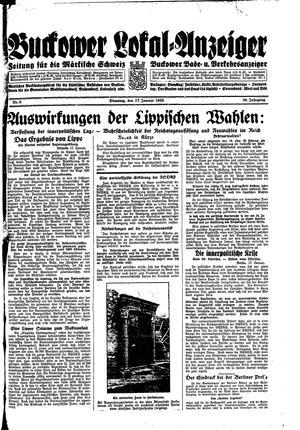 Buckower Lokal-Anzeiger vom 17.01.1933