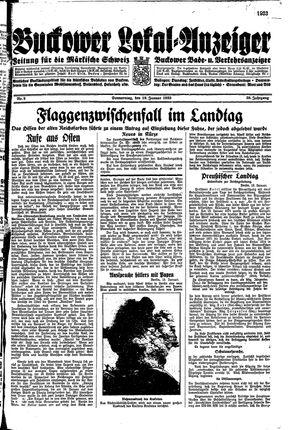 Buckower Lokal-Anzeiger vom 19.01.1933