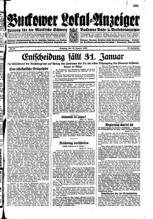 Buckower Lokal-Anzeiger vom 22.01.1933
